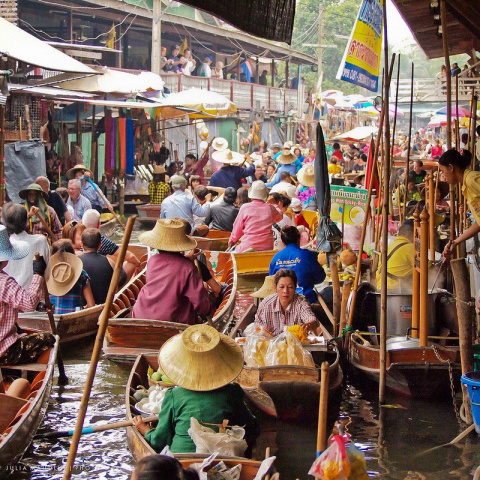 Плавучие рынки юго-восточной Азии