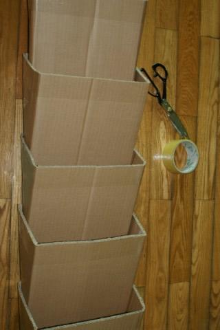 Полка из картонных коробок своими руками фото