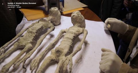 """В сети появились фотографии места, где были найдены """"инопланетные"""" мумии Наска"""