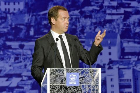 Медведев проведет предвыборное турне по регионам
