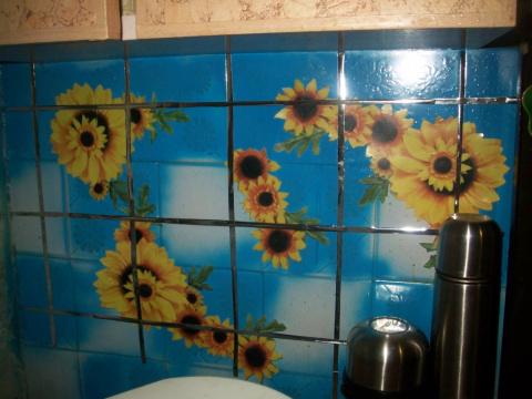 Покрасить плитку на кухне