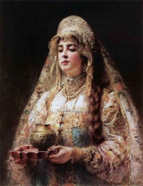 Тайны русской косы на полотнах русских живописцев