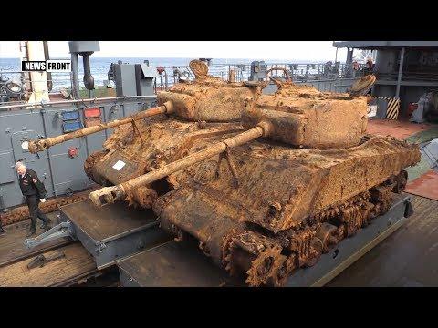 Россия: американские танки времен Второй мировой извлекли из Баренцева моря