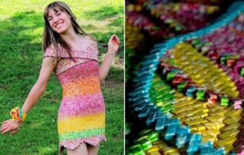 Девушка сделала платье из 10…