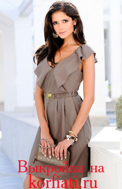 Очаровательное летнее платье. Моделирование, технология пошива