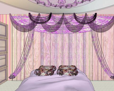 подростковая мебель для девочки с росписью