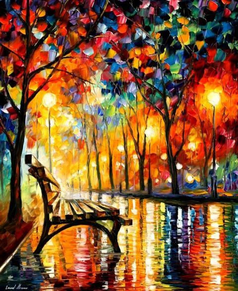 Талантливый художник Леонид Афремов (Leonid Afremov)