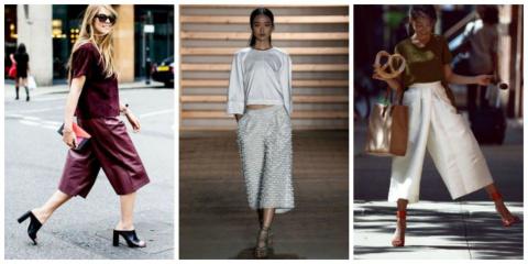 Кюлоты, они же — юбка-брюки: 30 образов для любого сезона