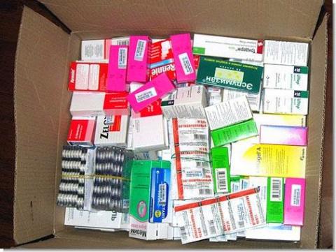 Запас медикаментов для выживания