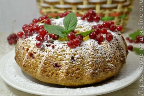 Кекс с ягодами, вкусно......