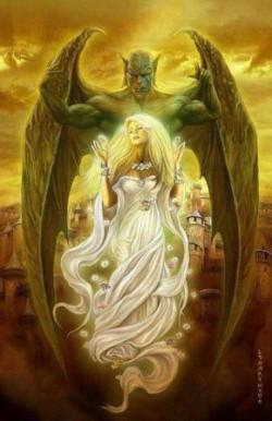 Демон и девушка. Притча.