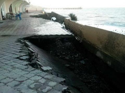Видео разрушенной штормом на…