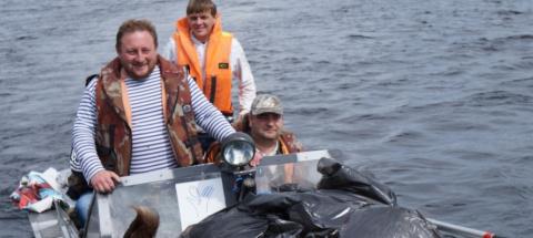 Жители Карелии убрали несколько тонн мусора с островов Ладоги