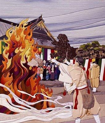 Японские картины из шелка: техника Кинусайга