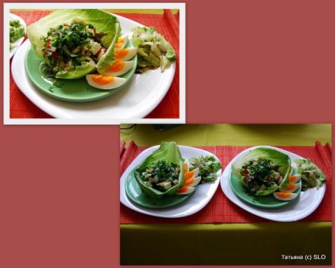 """салат """"Удовольствие"""" Фото-рецепт."""