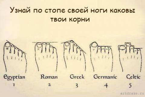 Как узнать характер по ступне