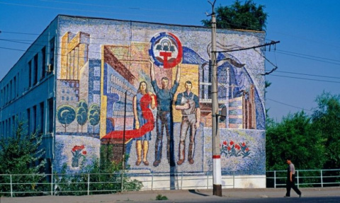 Советская мозаика и фрески