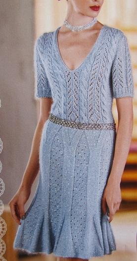 Голубое платье Воздушная элегия