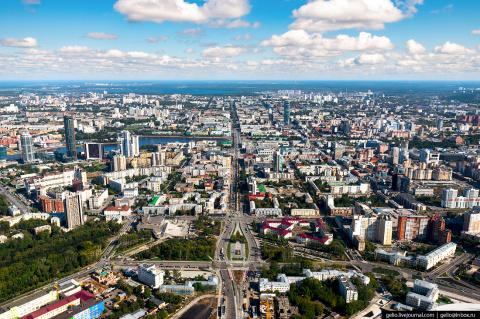 Екатеринбург с вертолёта