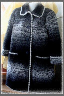 Пальто из буклированной пряжи