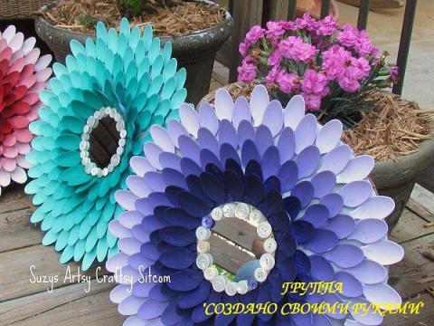 Красивые цветы из пластиковы…