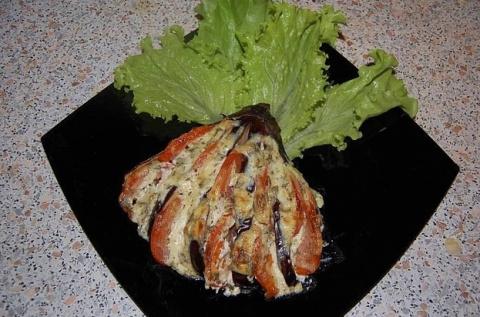 Очень вкусный и красивый рецепт запекания баклажан