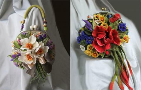 Женщины любят цветы и сумочки...
