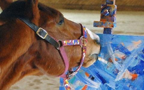 Лошадь «спасла свою жизнь» живописью