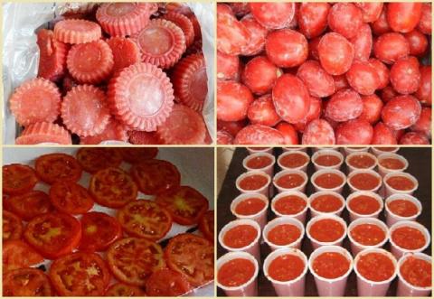 Замораживаем помидоры