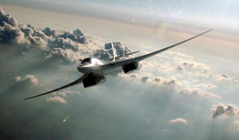 Новый Ту-160М2 с ракетой на …