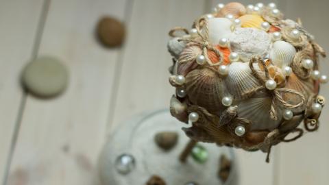 Топиарий из морских ракушек …
