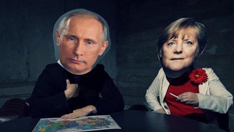 Ролик с Путиным, Меркель, Тр…