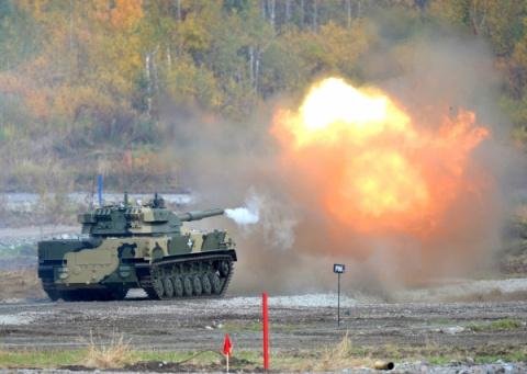 """Американский БТР """"Stryker"""" против российской СПП """"Спрут""""!"""