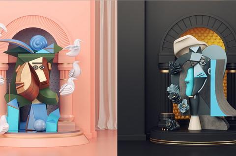 3D и Пабло Пикассо