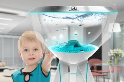 Теперь белье постирает Доктор Рыба в аквариуме