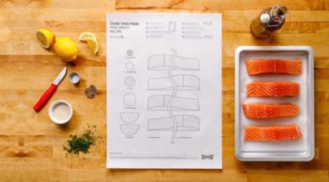 Постеры с рецептами от IKEA, облегчающие процесс приготовления