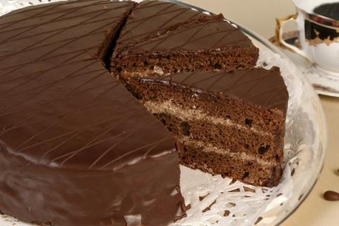 Классический шоколадный торт…