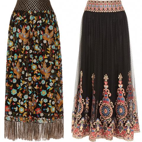 Модные юбки «в пол»