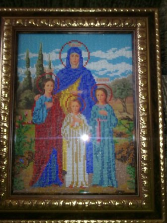 схема вышивки крестом иконы