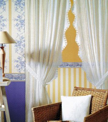 Как вязать нежную вуаль – шторы для комнаты.