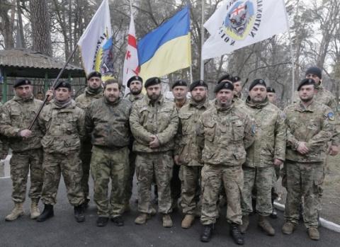 «Грузинский национальный легион» отправляется наДонбасс