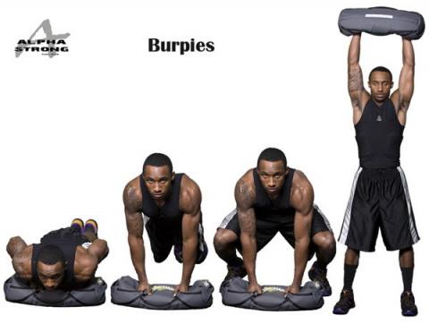 Техника выполнения упражнения «Бурпи»