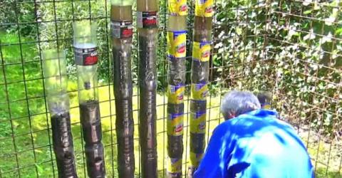 У него было 5 соток земли и большое количество пластиковых бутылок…