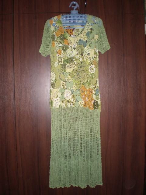 Первое платье в технике ирландского кружева