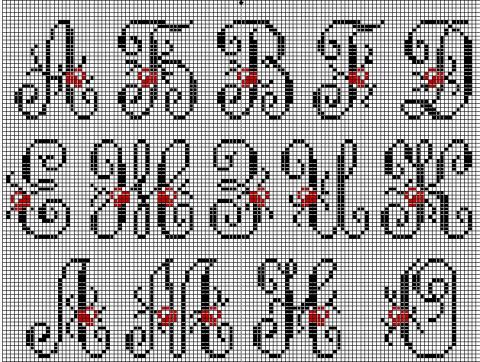 алфавит | Вышивка крестом