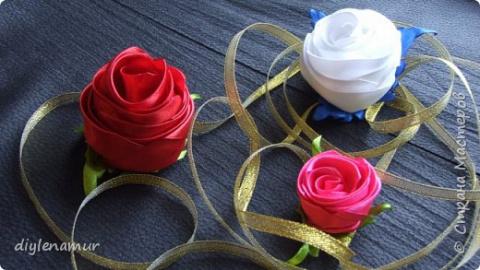 Роза канзаши из цельной атла…