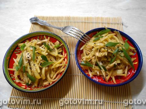 Салат из картошки по-корейски (Камдича)