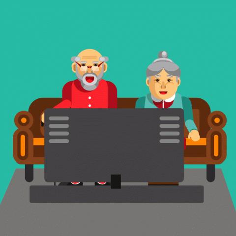 Сидит вквартире пожилая пара одесситов исмотрит на большой громкости телевизор. Вдруг звонок вдверь…