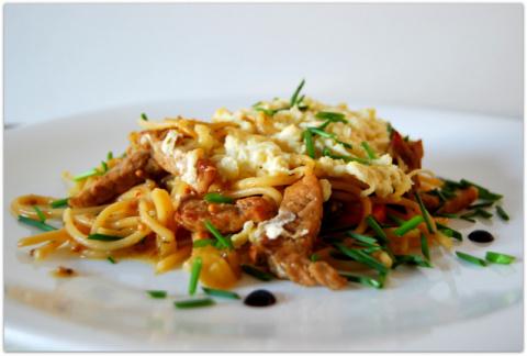 Спагетти в сложном* соусе с …