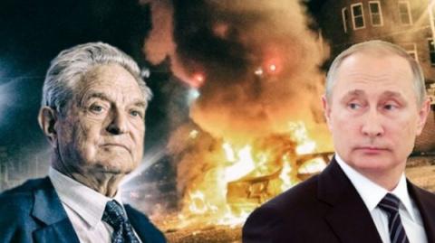 Путин предупреждает Америку: Джордж Сорос ведет вас к гражданской войне!